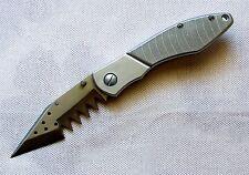 Haifisch Zahn silberfarben Taschenmesser Made in USA Sharkblade Pocket Knife