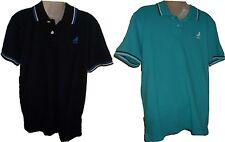 Mens Aeropostale Aero Stripe Detail Jersey Dove Logo Polo Shirt Nwt #2493