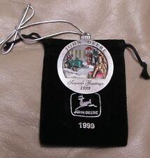 NEW -- 1999 John Deere Pewter Christmas Ornament