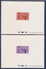épreuve de luxe   la paire  Europa de       1962   num: 1358/59