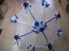 """32"""" Bridal Wedding Shower mixed colors roses UMBRELLA PARASOL"""