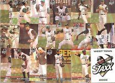 2002 West Tenn Diamond Jaxx ~ Minor League Team Set/ Chicago Cubs