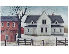 "1890 FARMSTEAD Canvas Picture, Farmhouse, Red Barn, 20""x12"", Billy Jacobs"