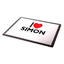 MOUSE MAT - I Love Simon - Boy's Name Gift
