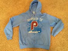 Property of Philadelphia Phillies Baby Blue Zipper Hoodie Jacket Majestic XL