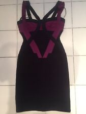 HERVE LEGER Bandage Dress Blue And Purple XS