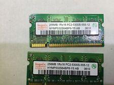 Hynix 512MB 2X256MB PC2-5300S DDR2 Laptop RAM HYMP532S64BP6-Y5 (K50-06)