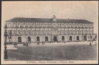 AX3932 Napoli - Piazza Plebiscito e Palazzo Reale - Cartolina postale - Postcard