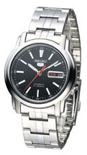 Seiko Automatic SNKL83 SNKL83K1 Men Day Date Black Dial Stainless Steel Watch