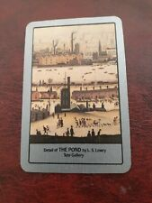 playing cards swap,  One card , Artist,  Painting ,The Pond, L.S.Lowry. Tate G.