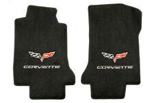 C6 Corvette 2005-2007E Lloyd Velourtex Front Floor Mats - Logo and Lettering