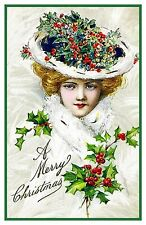 Victorian Christmas Scene # 603 Holiday Outfit  Counted Cross Stitch Pattern