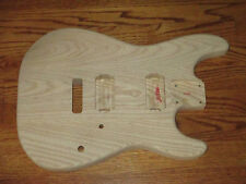 MIGHTY MITE BODY FITS FENDER STRATOCASTER 2 3/16th GUITAR NECK - UNFINISHED ASH
