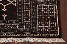 New 3x4 Geometric Afghan Bokhara Oriental Kitchen Rug Hand-Knotted Prayer Carpet
