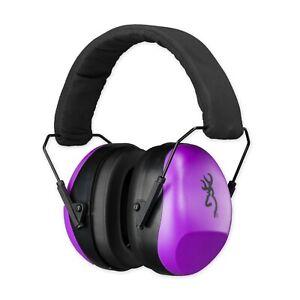 Browning 126396 Purple Buckmark II Shooting Hearing Protection Ear Muffs Adult