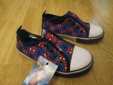 Boys pumps shoes Spiderman superhero kids size 13 BNWT George Marvel plimsol