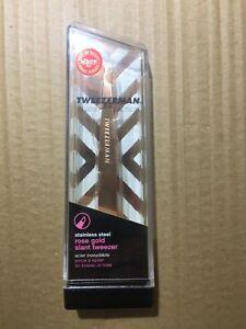 Tweezerman STAINLESS STEEL ROSE GOLD SLANT TWEEZER