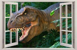 WALL STICKERS 3D Effect Window Dinosaur Tyrannosaur REX decorative sticker 59
