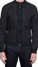 Bomber  Armani Jeans, 50 L,/M,  Grigio scuro  , Slim, No, Refrigiwear, Blauer .