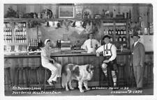 RPPC ST. BERNARD LODGE Mill Creek, CA Bar Interior ca 1940s Eastman Postcard
