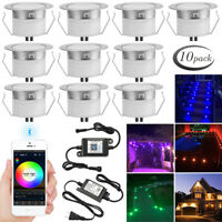10X RGB/RGBW Bluetooth APP Control 45mm LED Deck Patio Stair Step Soffit Lights