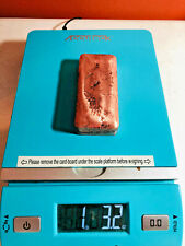 COPPER BAR 1.32 oz POUND HAND POURED 999 FINE COPPER BULLION INGOT BAR