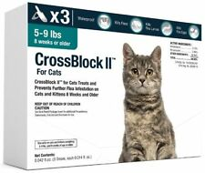 CrossBlock II Once a Month Topical Flea Prevention for Small Cats 5-9lbs 3Pack