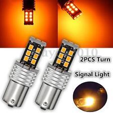 2x 1156 BA15S LED 2835 15 SMD 15W Blinker Standlicht Rücklicht Lampe Birne Gelb
