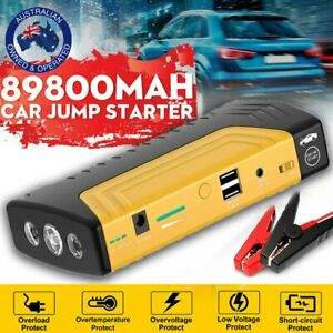 AU 89800mAh Portable Car Jump Starter Vehicle Charger Power Bank Battery Engine