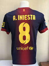 Barcelona Home Football Shirt Jersey 2012 2013 INIESTA 8 Small S Adults Nike