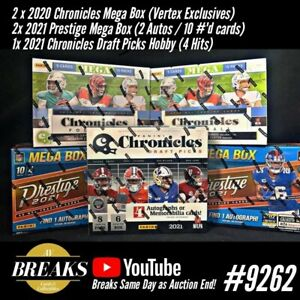LOS ANGELES CHARGERS 2021 CHRONICLES PRESTIGE 2020 CHRONICLES Box Break Case 262