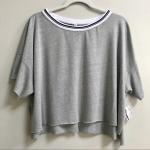 NWT Free People Movement Heather Grey Forever Yours T-shirt
