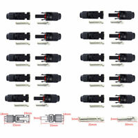 10 Pairs 30A IP67 Male Female M/F Wire Cable Connector Solar Panel Adapter