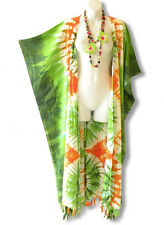 CD242 Plus Size Tie Dye Maxi Cardigan Kaftan Duster Wrap Dress - 2X, 3X, 4X & 5X