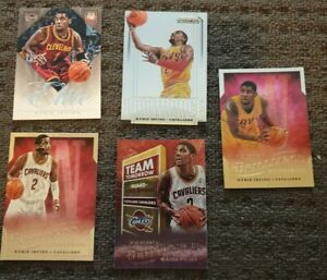 4 X Kyrie Irving NBA basketball cards (ROOKIES) 1 x 2nd 2013/14 Prizm. WoW. $$