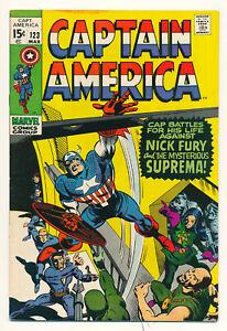 Marvel Captain America Issue #123 Comic Nick Fury Suprema 1st App! 7.0 FN/VF