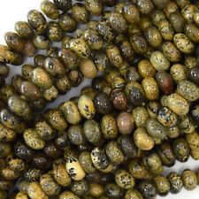 "8mm brown chohua jasper rondelle beads 15.5"" strand artistic jasper"