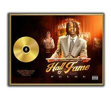 Polo G Poster, Hall Of Fame GOLD/PLATINIUM CD, gerahmtes Poster HipHop Rap Art