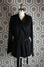 NWT $495 Helmut Lang Women's Black Belted Knit Cardigan Size Small