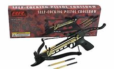 Rogue River Tactical 80 Pound Hand Held Self Cocking Draw Mini Pistol Crossbow