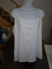 Womens size 3X 22W/24W White Cami Tank Top Faded Glory Spaghetti Straps NEW