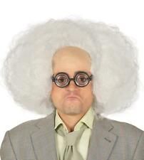 Parrucca bianca su calotta Doc Brown scienziato pazzo