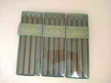 12 Yankee Candles Unscented Dripless Taper Candles Green