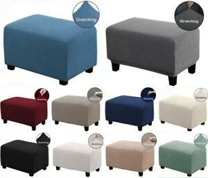 Cozy Soft One Piece Stretch Ottoman Slipcovers Furniture Protector Cover H_155