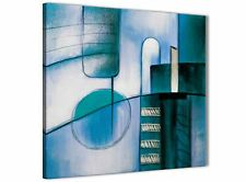 Teal Cream Painting Kitchen Canvas Wall Accessories - Abstract 1s417s - 49cm