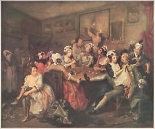 "1960 Art Print ""The Rakes Progress: III, The Orgy"" By William Hogarth Free Ship"