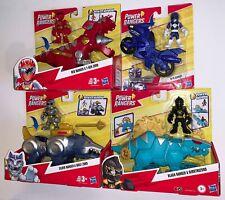 Power Rangers Red w T-REX ZORD, Silver w WOLF, Black w DIMETROZORD, Blue w CYCLE