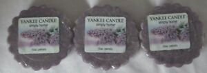Yankee Candle Simply Home Tart Wax Melts Lot Set of 3 LILAC PETALS approx 8 hrs