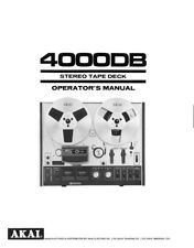 Akai 4000DB Tape Deck Owners Instruction Manual