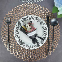 Washable Gold Silver Placemat Dining Wedding Party Table Mats Coaster Insulation